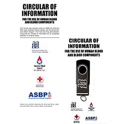 BUNDLE: Circular of Information for the Use of Human Blood and Blood Components (3 Sets of 50 Each) – Brochure format and COI for the Use of Human Blood and Blood Components – USB drive format