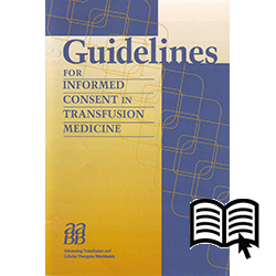 Guidelines for Informed Consent in Transfusion Medicine