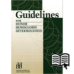 Guidelines for Donor Hemoglobin Determina